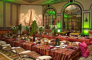 Themenevents und Dekoration von all about event. Ein wunderbares orientalisches Menü.
