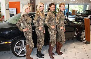 Promotionpersonal für Jaguar.