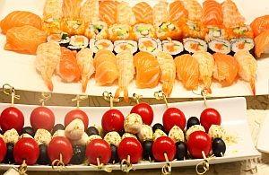 Asiatisches Fingerfood für Messe