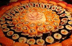 Frisches Sushi aus erlesenen Zutaten